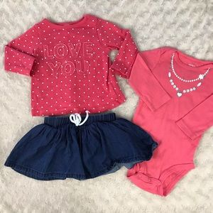 Baby Girl Bundle Carter's Cat & Jack Sweatshirt